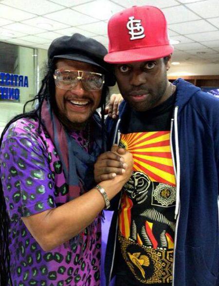 """Maxi with producer Colin """"Bulby"""" York"""
