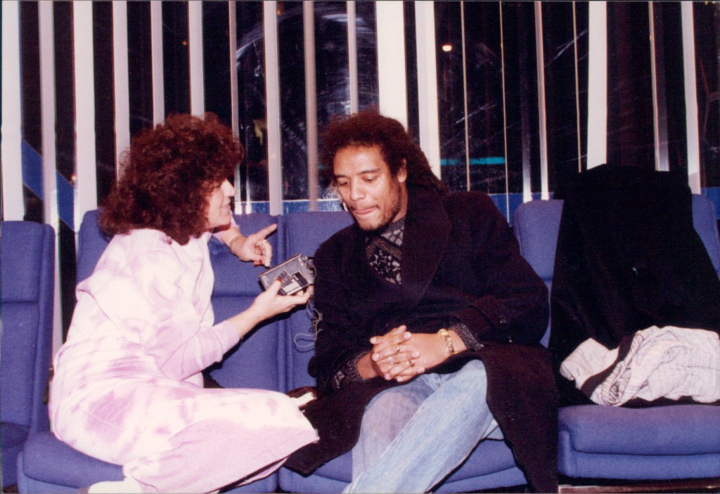 MPQ interviews Maxi Priest at London's BBC Radio, 1987