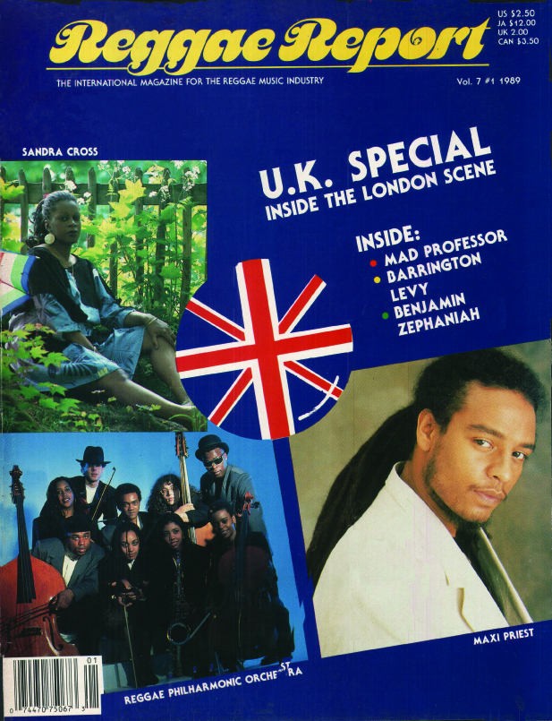 Maxi's first cover - the U.K. Reggae Special V07#01 1989