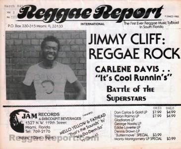 Reggae Report V02#03 1984