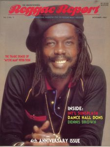 Peter Tosh 1987 Reggae Report Cover