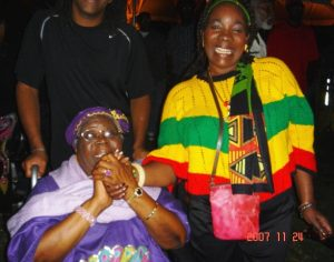 Mother Booker and Rita Marley in Miami