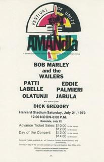 Amandla Concert Poster 1979