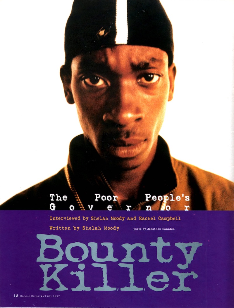 bounty killer story in reggae report