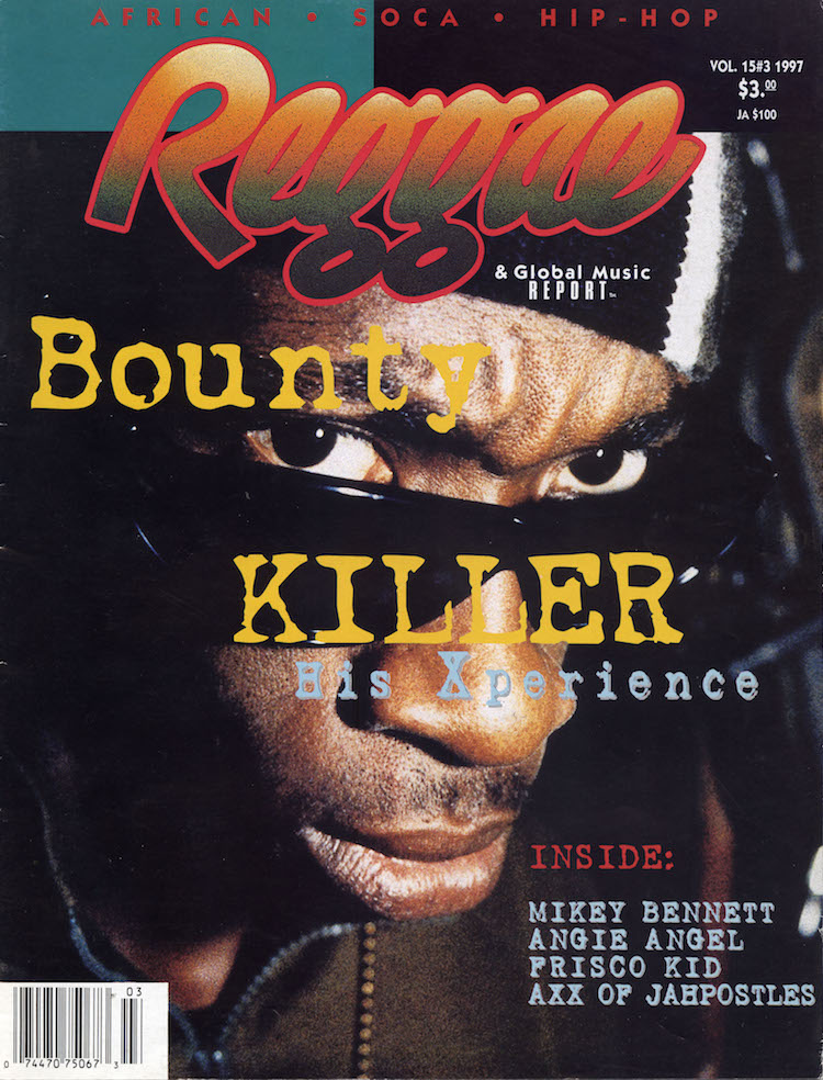 bounty killer reggae report cover reggae dancehall dj jamaica