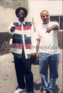 Buju Banton and Donovan Germain at Penthouse Studio, Kingston