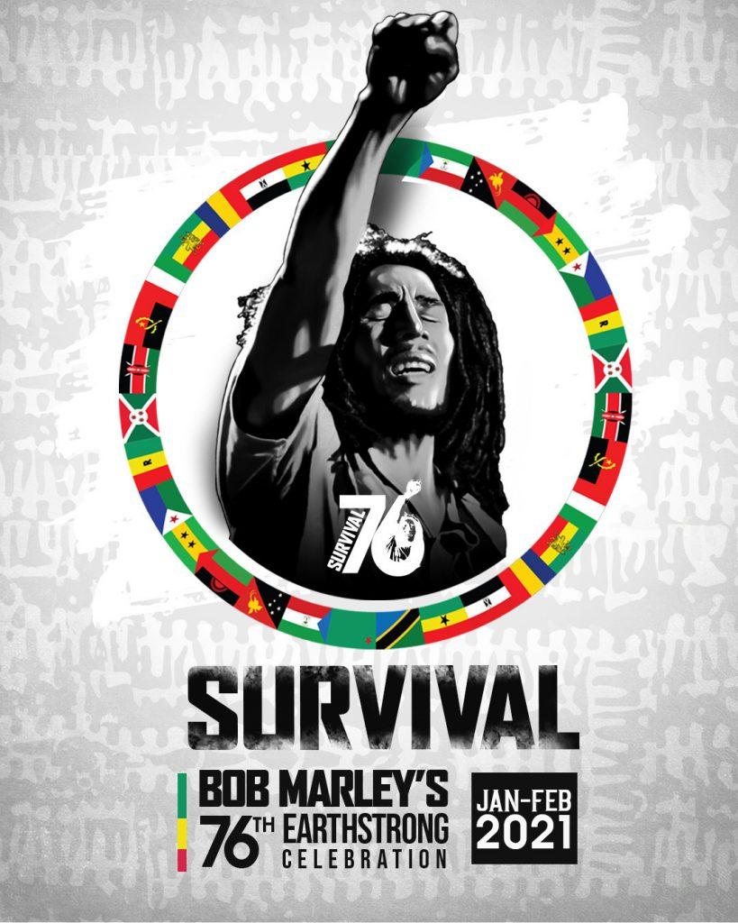 Bob Marley 76 Earthday logo