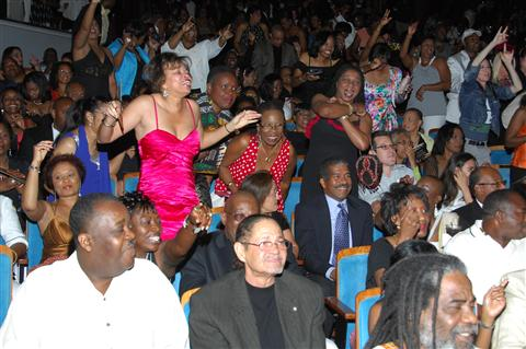 The Broward Center crowd danced the entire show!