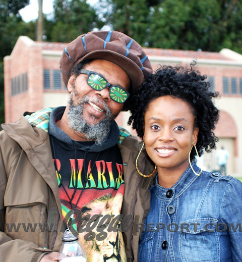 Cherine Anderson backstage with Sky, Marley Tour Manager