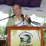 Rain Forest CEO Johan van der Goltz at opening ceremony