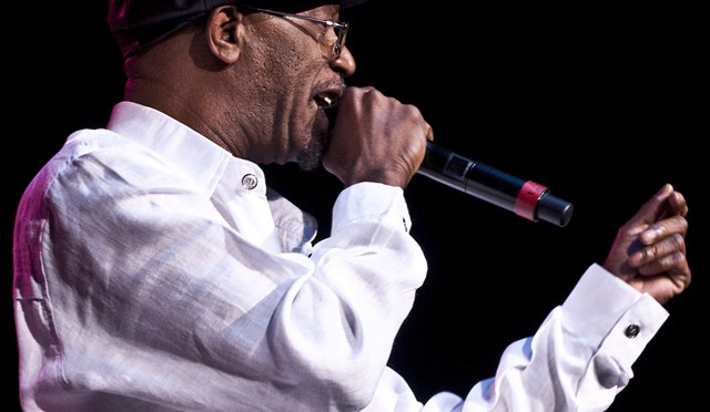Beres Hammond flicks with the music.