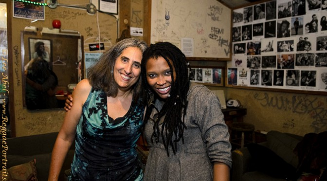 Nkulee Dube and Lee Abel, backstage Berkeley