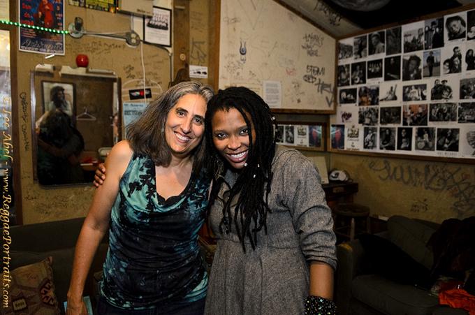 Nkulee Dube and Lee Abel, backstage Berkeley